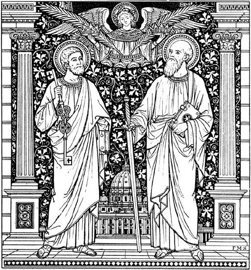 Znalezione obrazy dla zapytania święci piotr i paweł